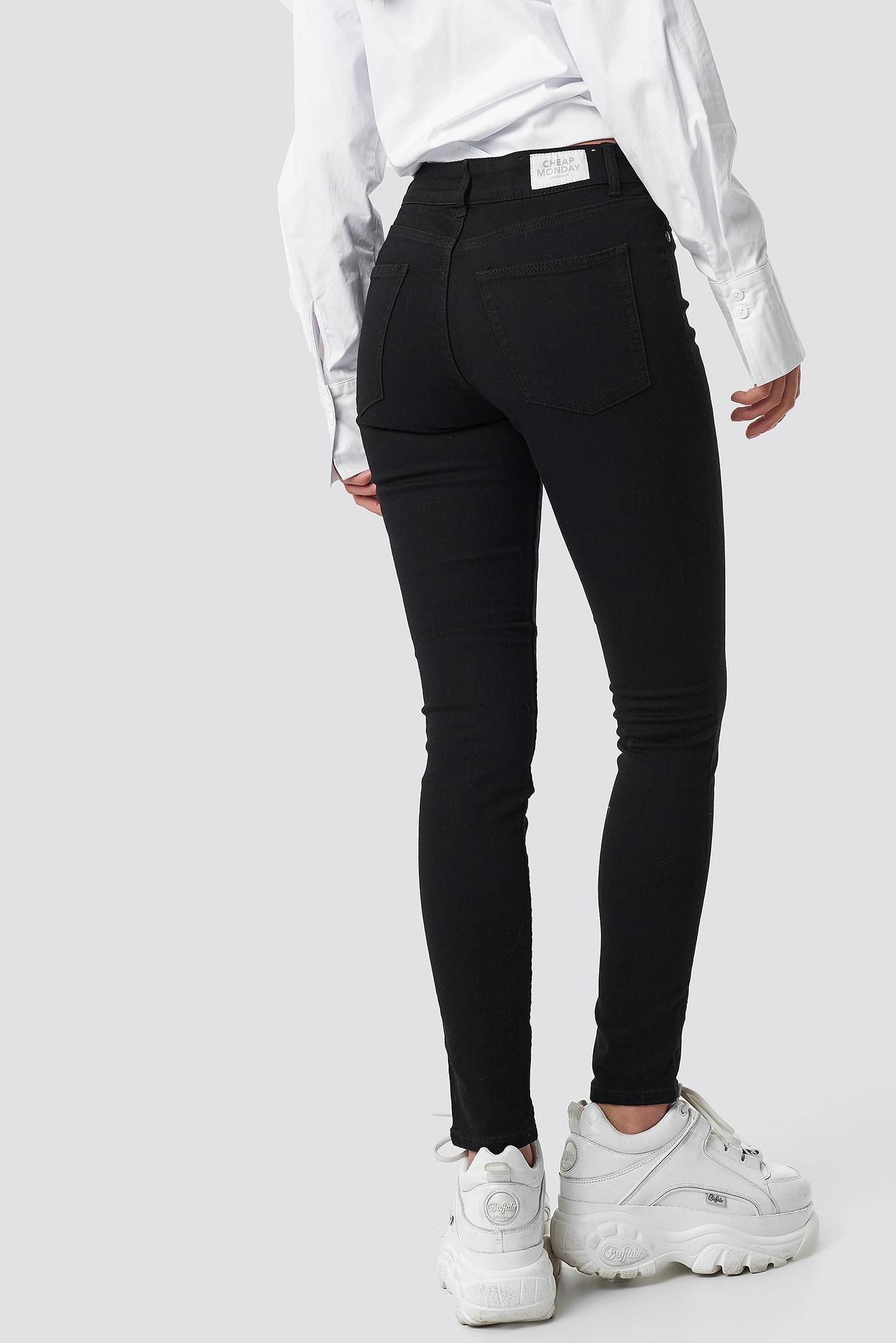 Mid Spray Black Jeans NA-KD.COM