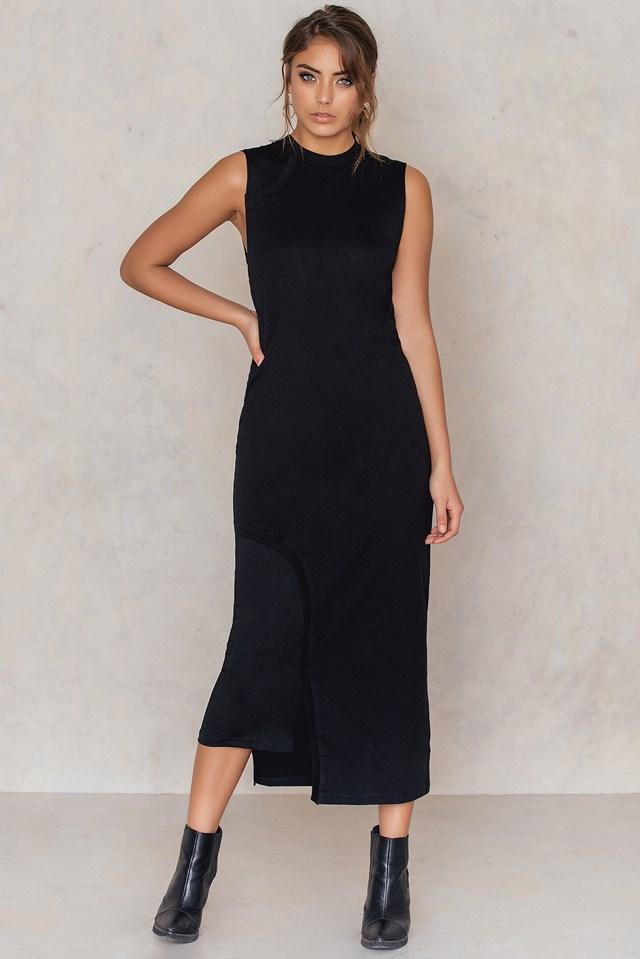 Panel Dress Black