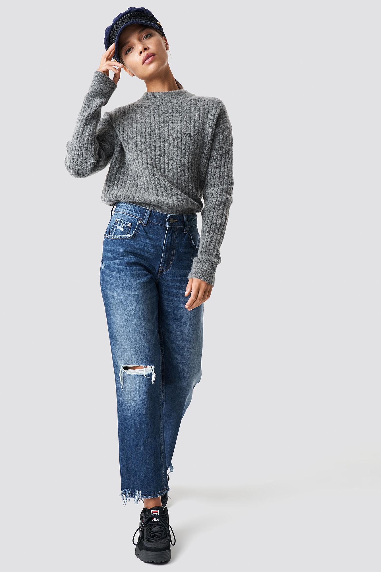 Revive Blue Oxide Jeans NA-KD.COM