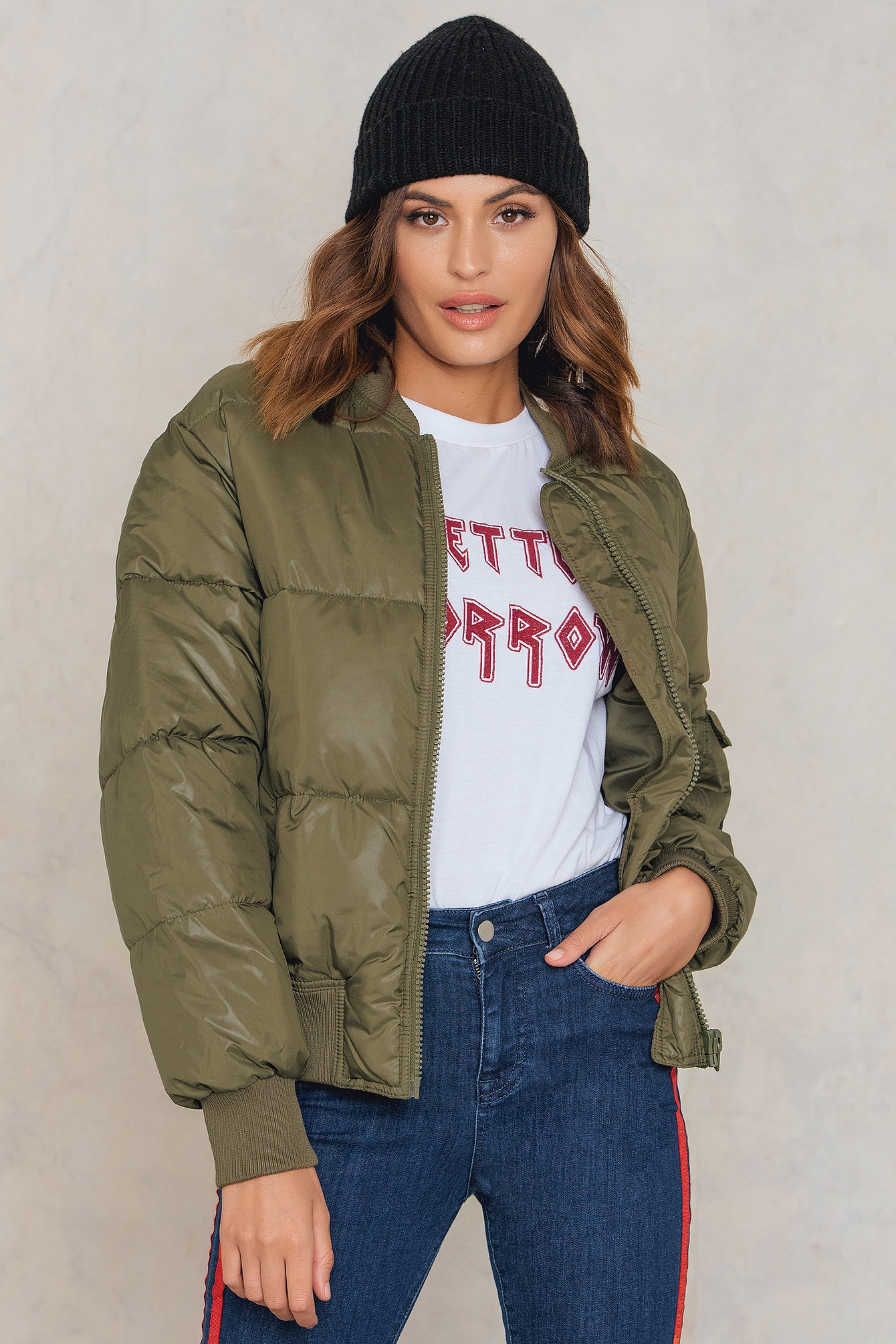 Mud Green Risky Bomber