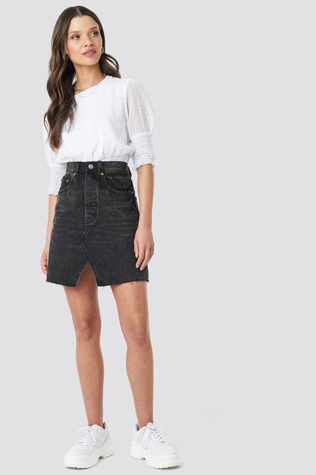 Shrunken Skirt Black