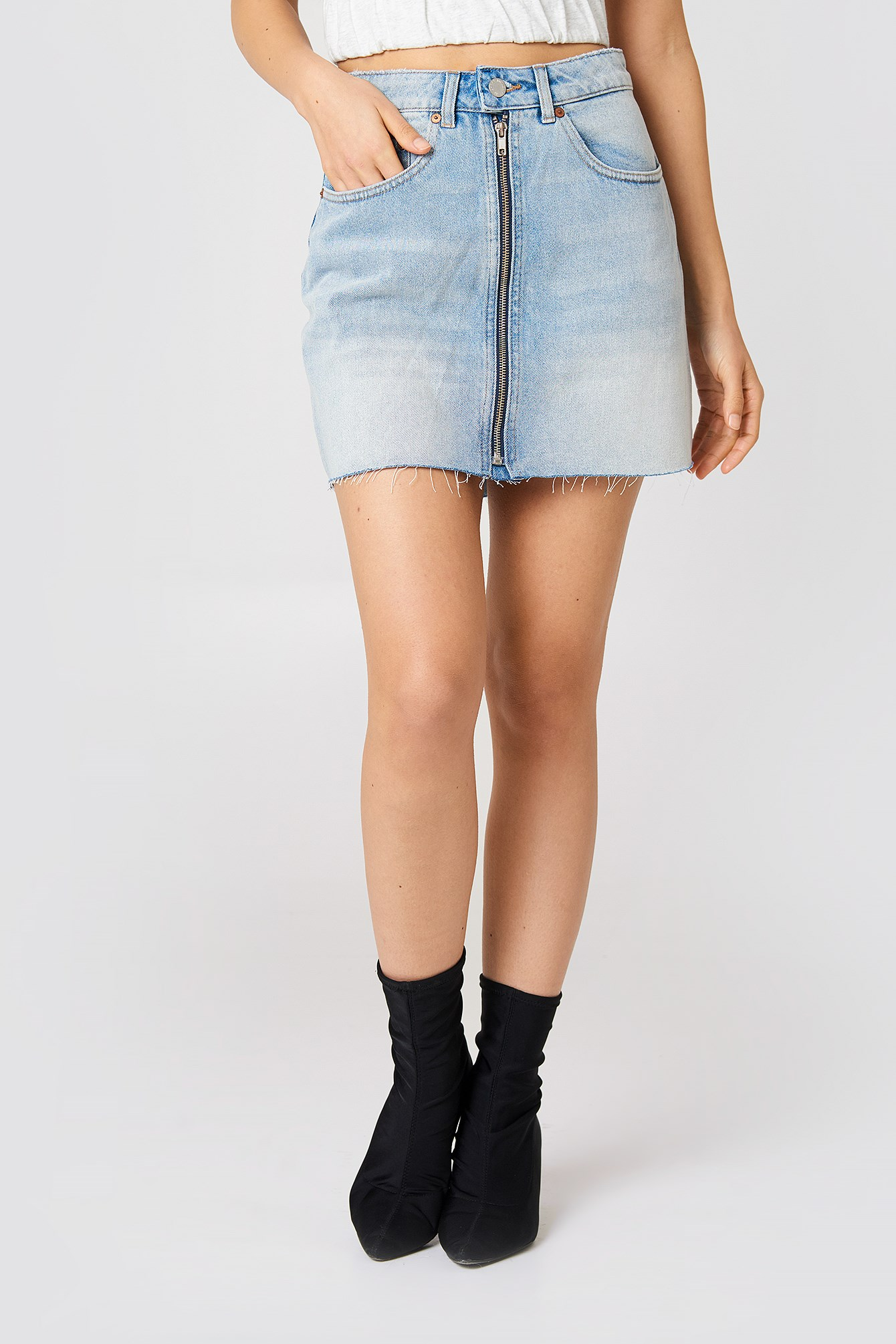 Zip Short Skirt NA-KD.COM