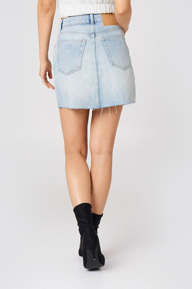 Zip Short Skirt Blue Blaze