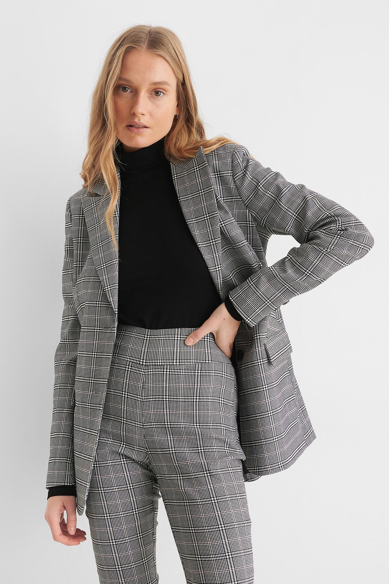 na-kd classic -  Karierter Blazer - Grey