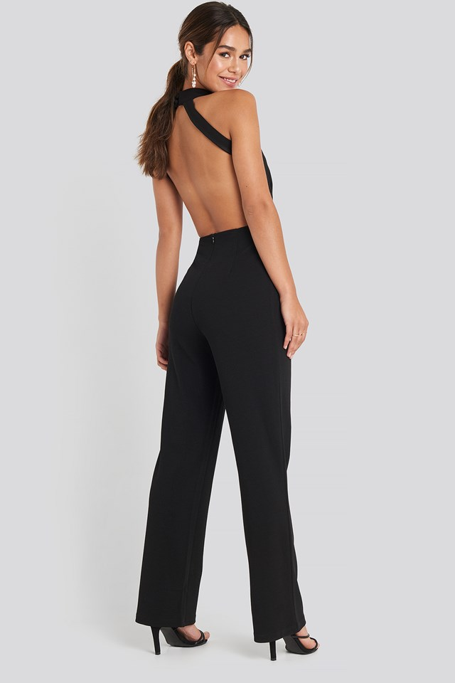 High Neck Jumpsuit Black