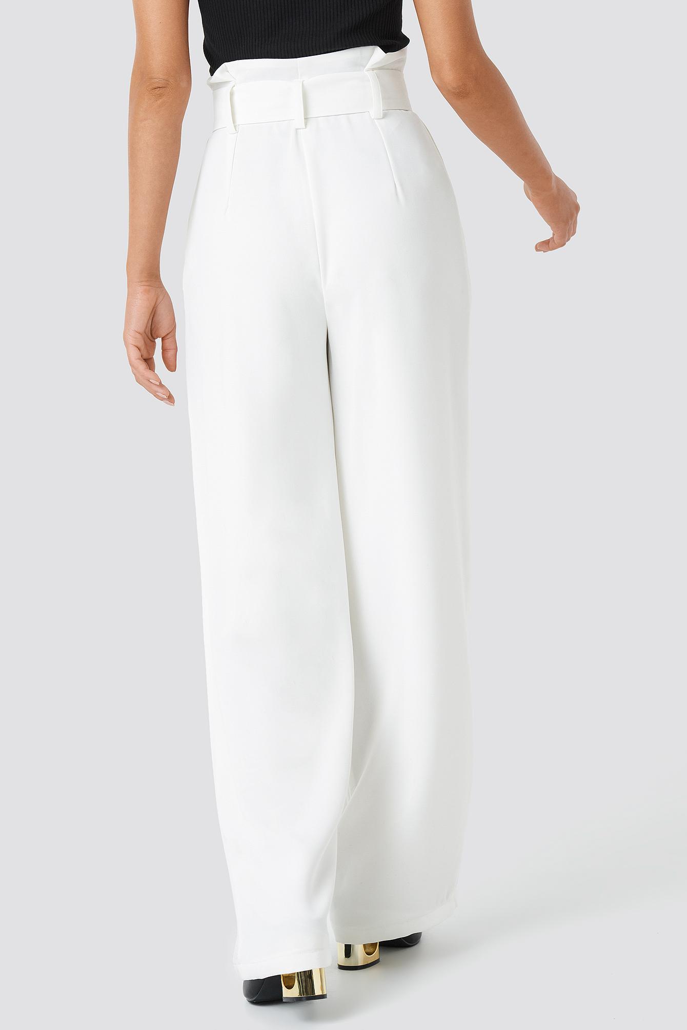 Belted Highwaist Flared Pants NA-KD.COM