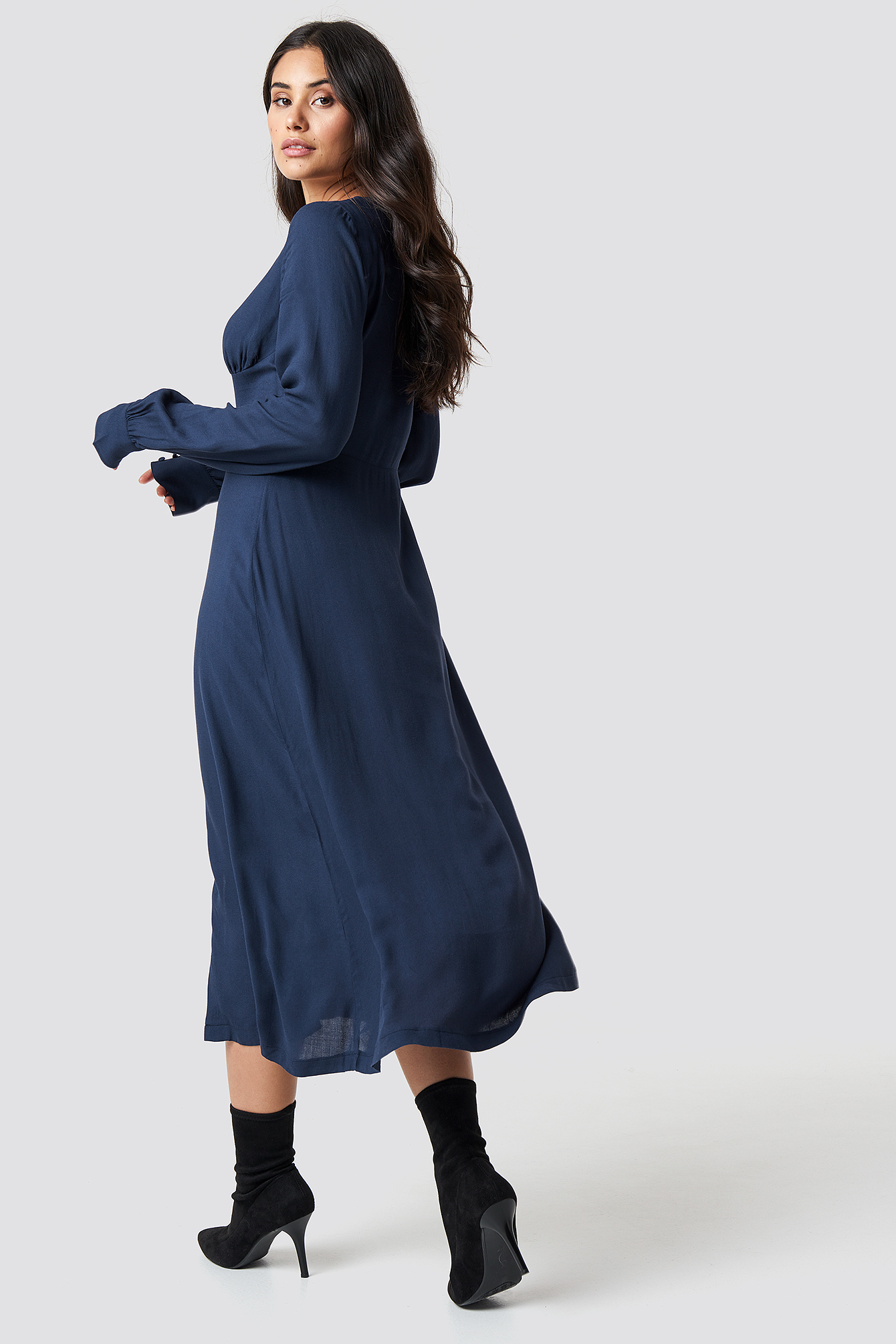 Buttoned Midi Dress  NA-KD.COM