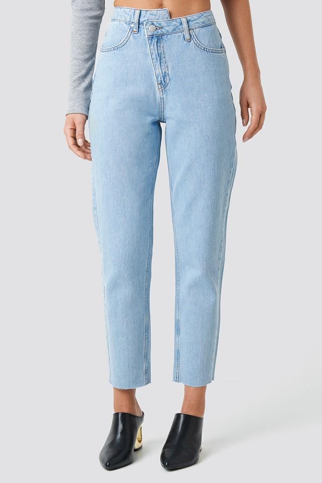 Cropped Denim Pants Light Blue