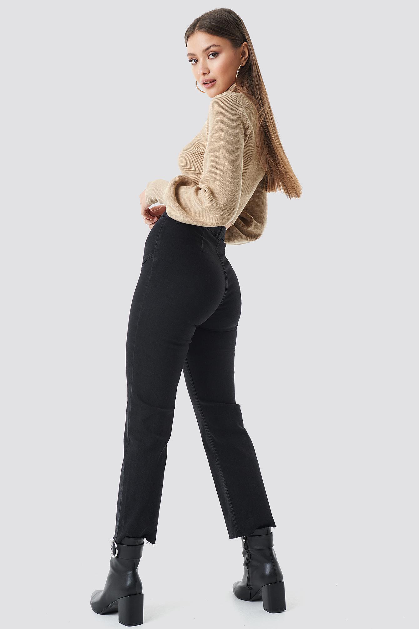 Cropped Zipper Jeans NA-KD.COM