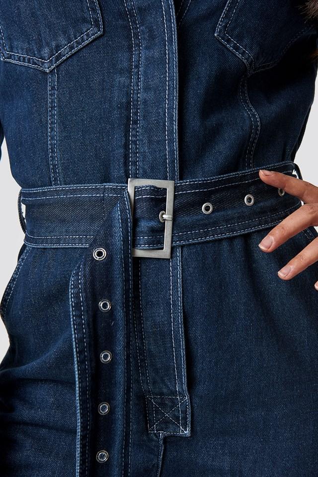 Denim Belted Jumpsuit NA-KD.COM
