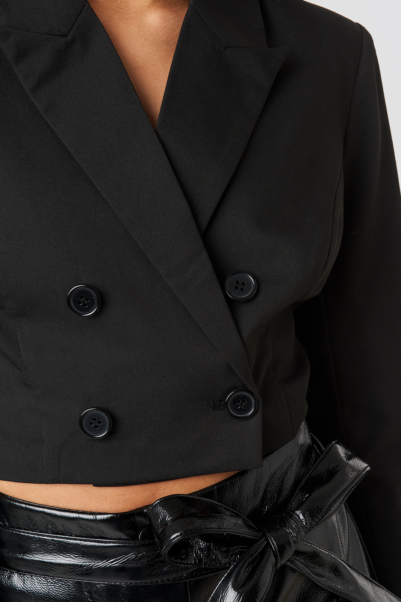 Double Breasted Cropped Blazer NA-KD.COM