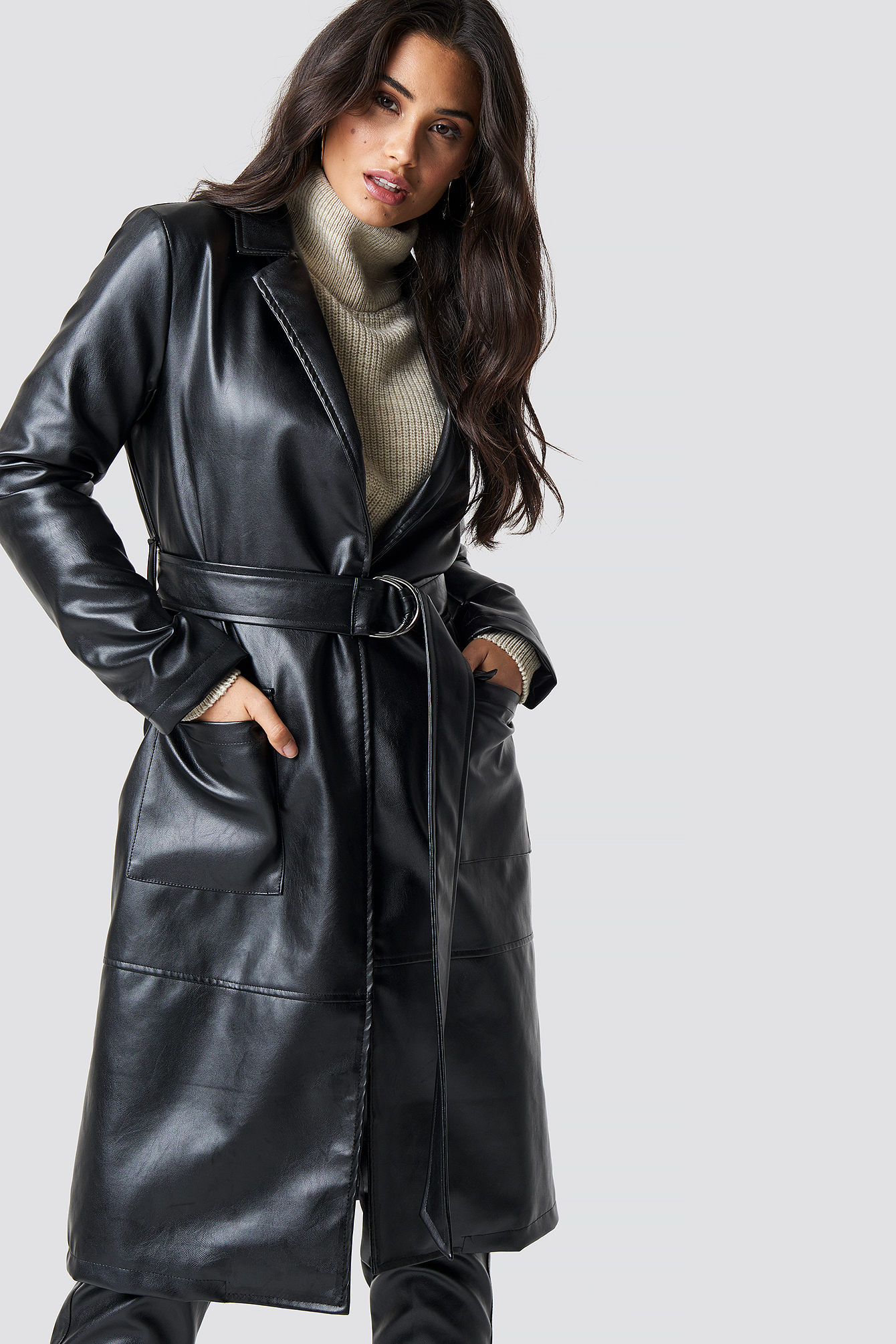 Faux Leather Coat NA-KD.COM