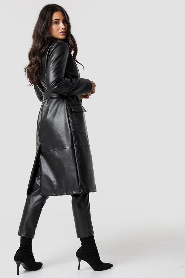 Faux Leather Coat NA-KD.COM