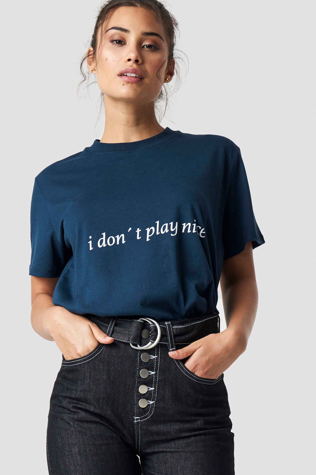 I Don't Play Nice Tee NA-KD.COM