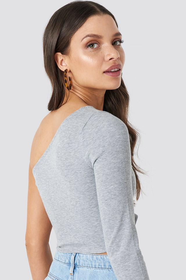 Off Shoulder Top Grey