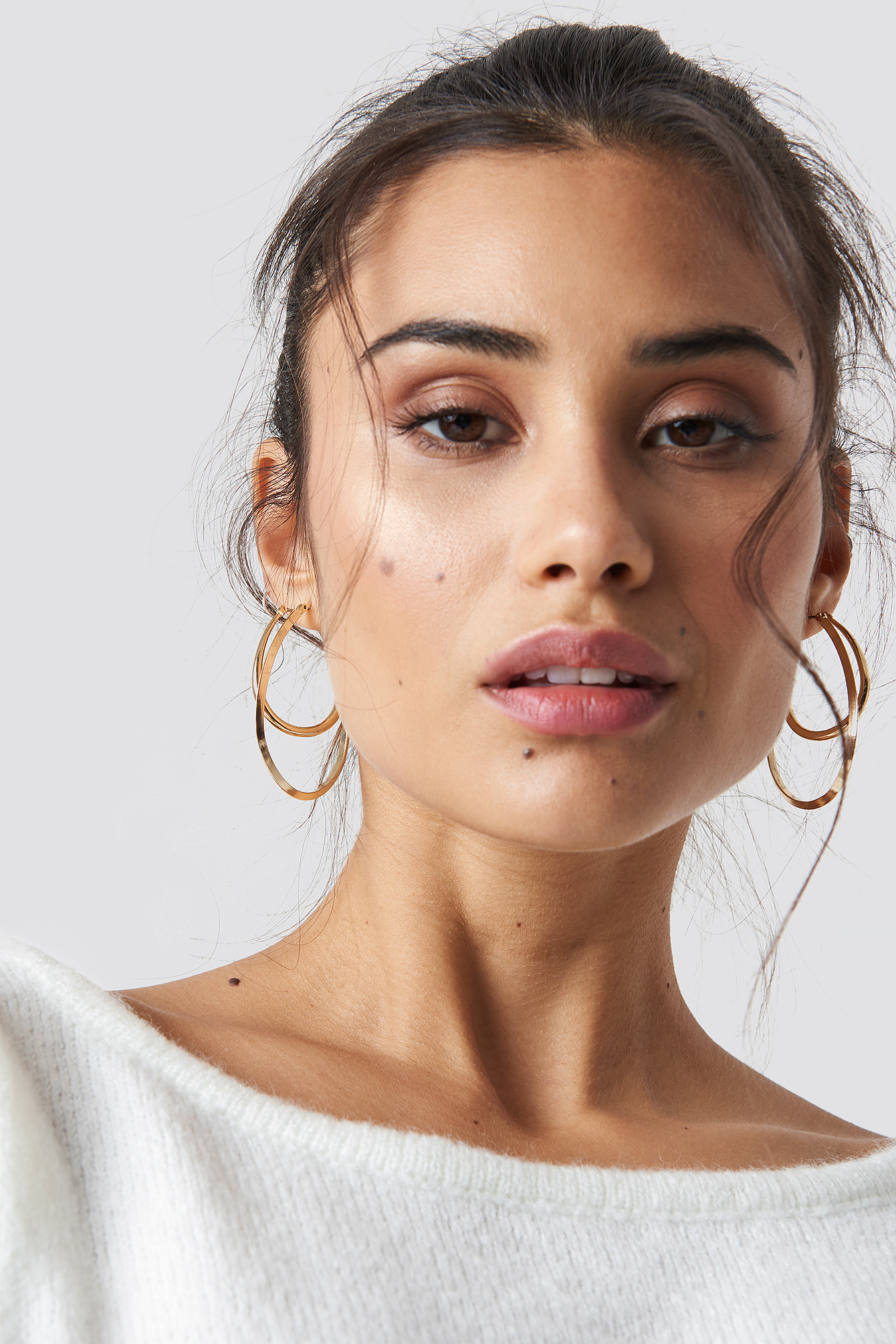 Oval Gold Hoops NA-KD.COM