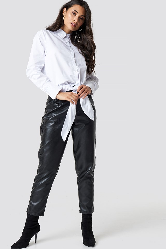 Oversized Knot Shirt White