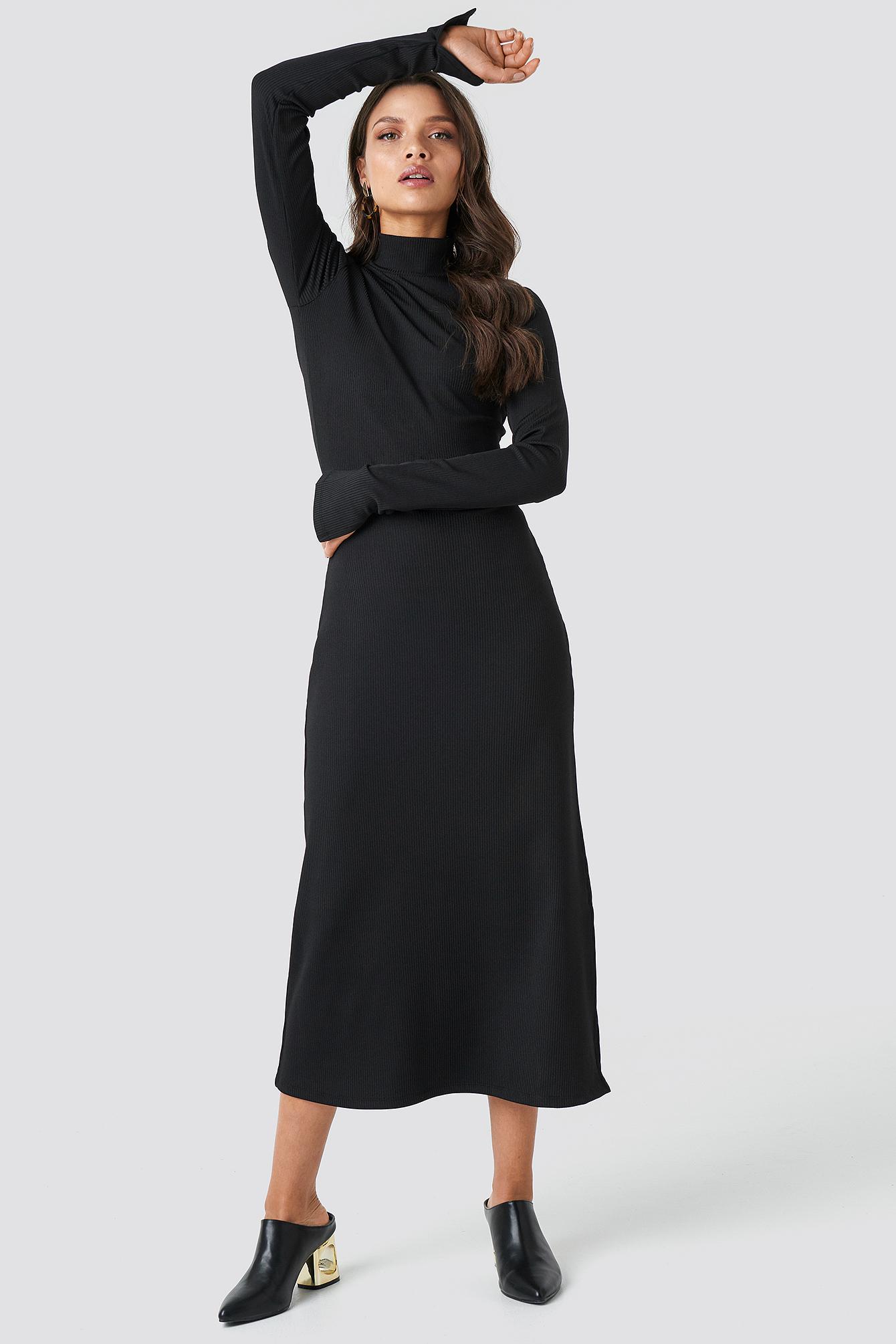 Polo Side Slit Midi Dress NA-KD.COM