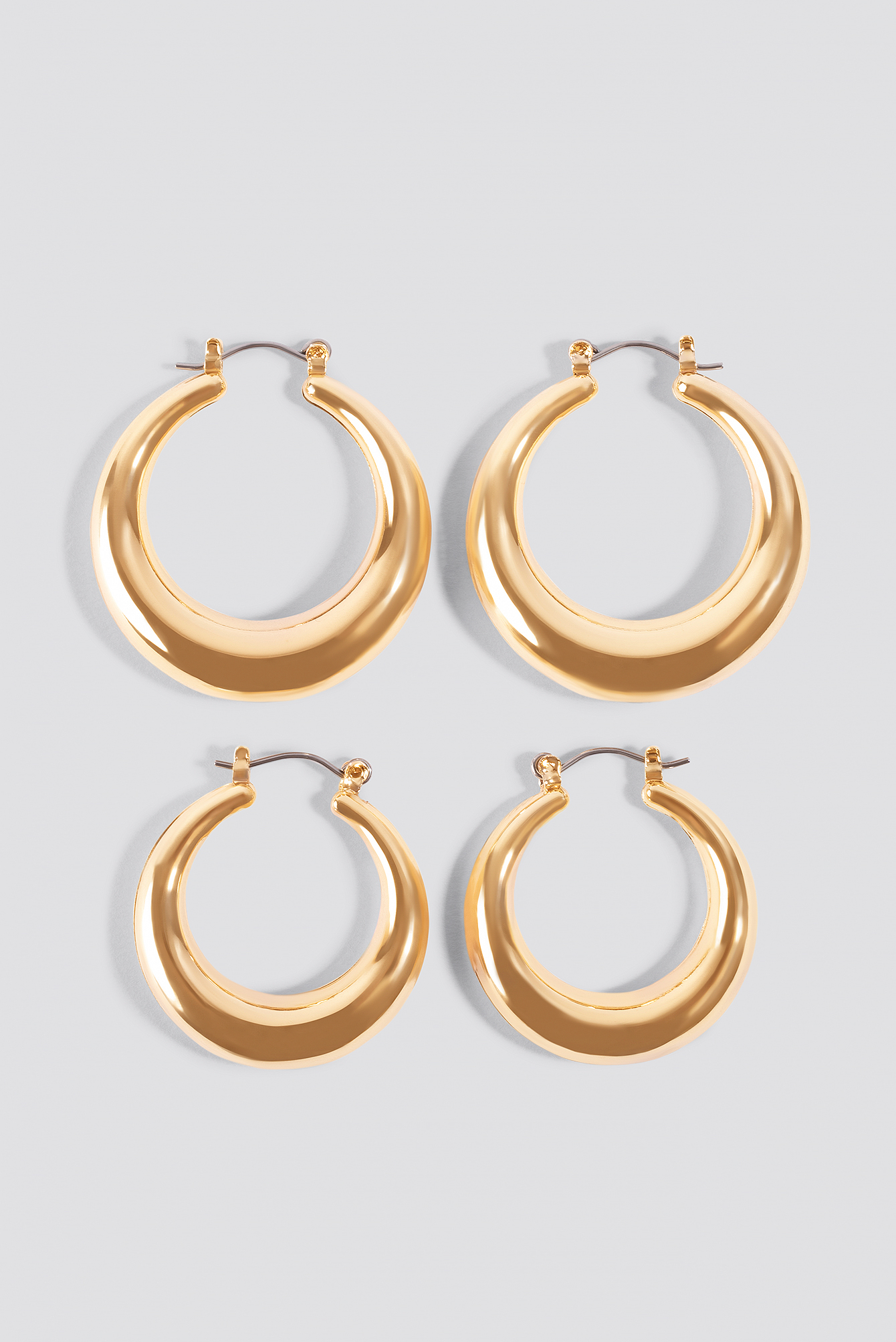 Round Gold Hoops NA-KD.COM