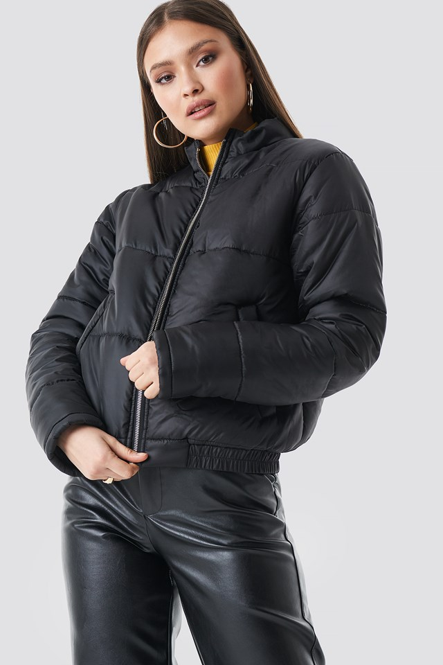 Short Puffer Jacket Black