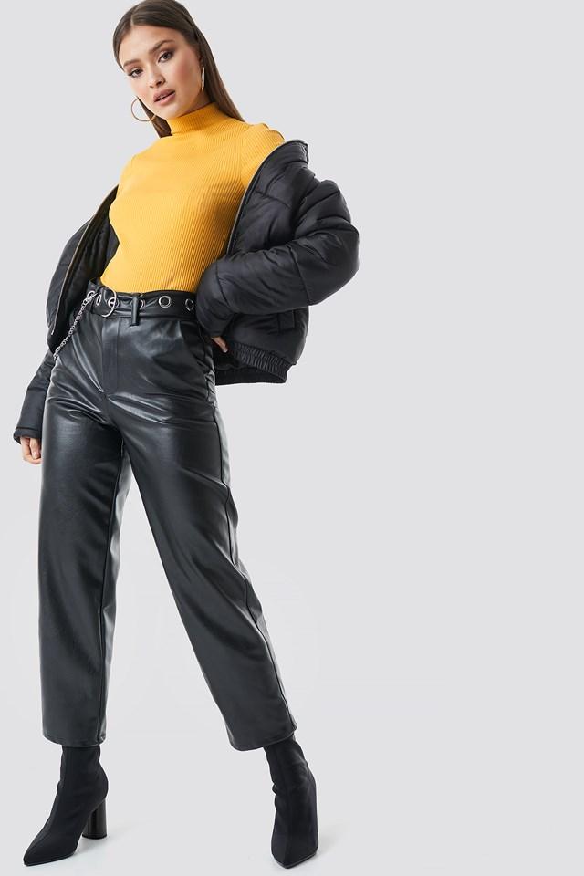 Short Puffer Jacket Black