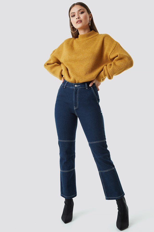 Straight Cropped Jeans Chloé B x NA-KD