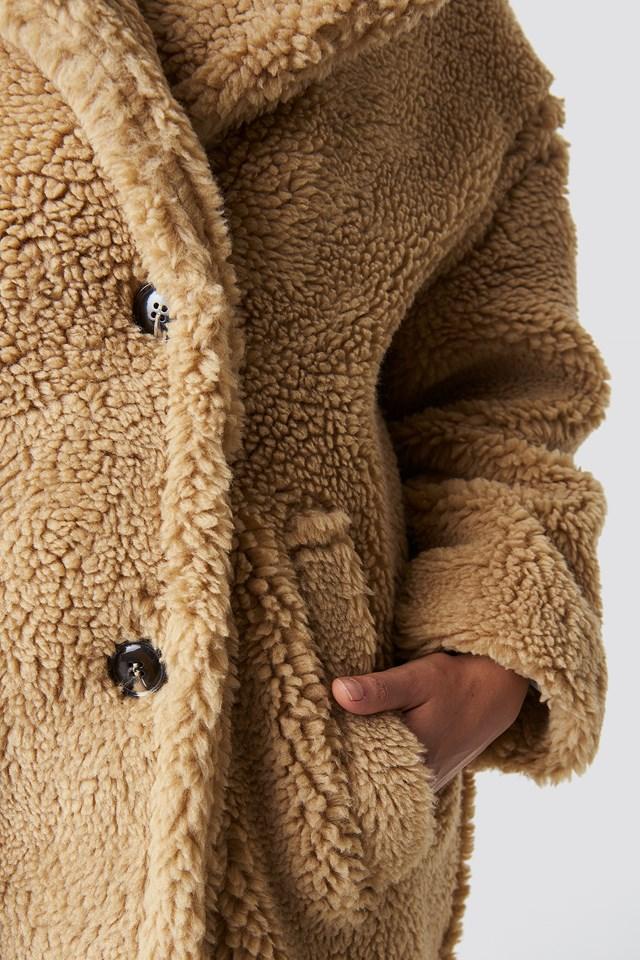 Teddy Oversized Jacket Beige