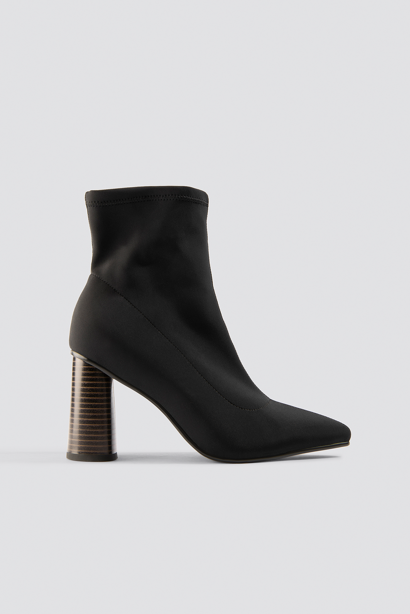 chloé b x na-kd -  Pointy Sock Boot - Black