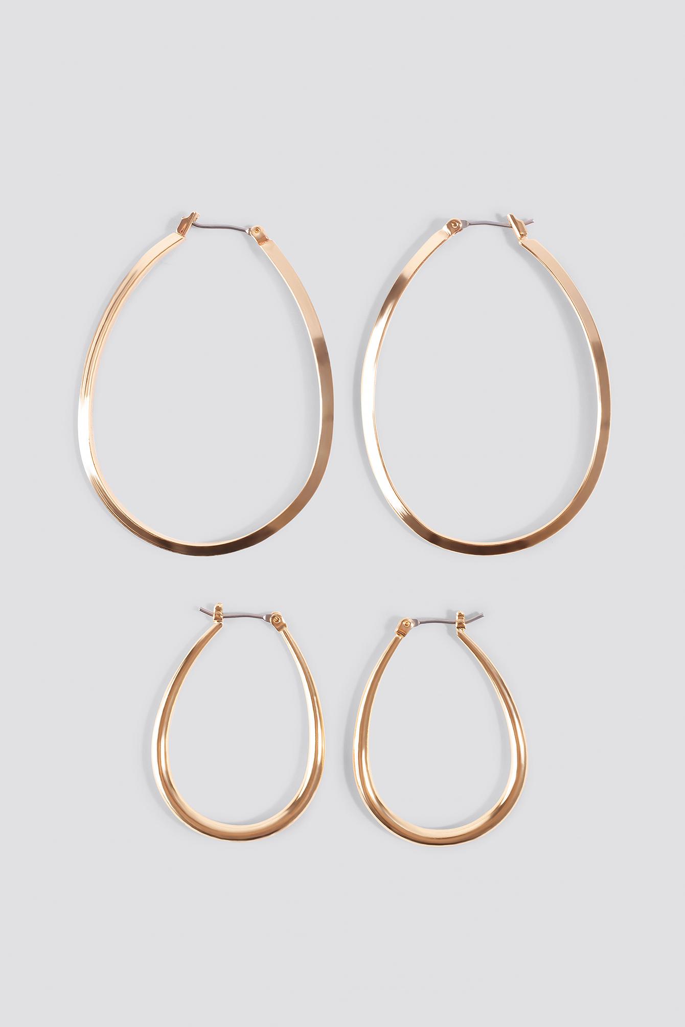 Oval Gold Hoops  NA-KD.COM