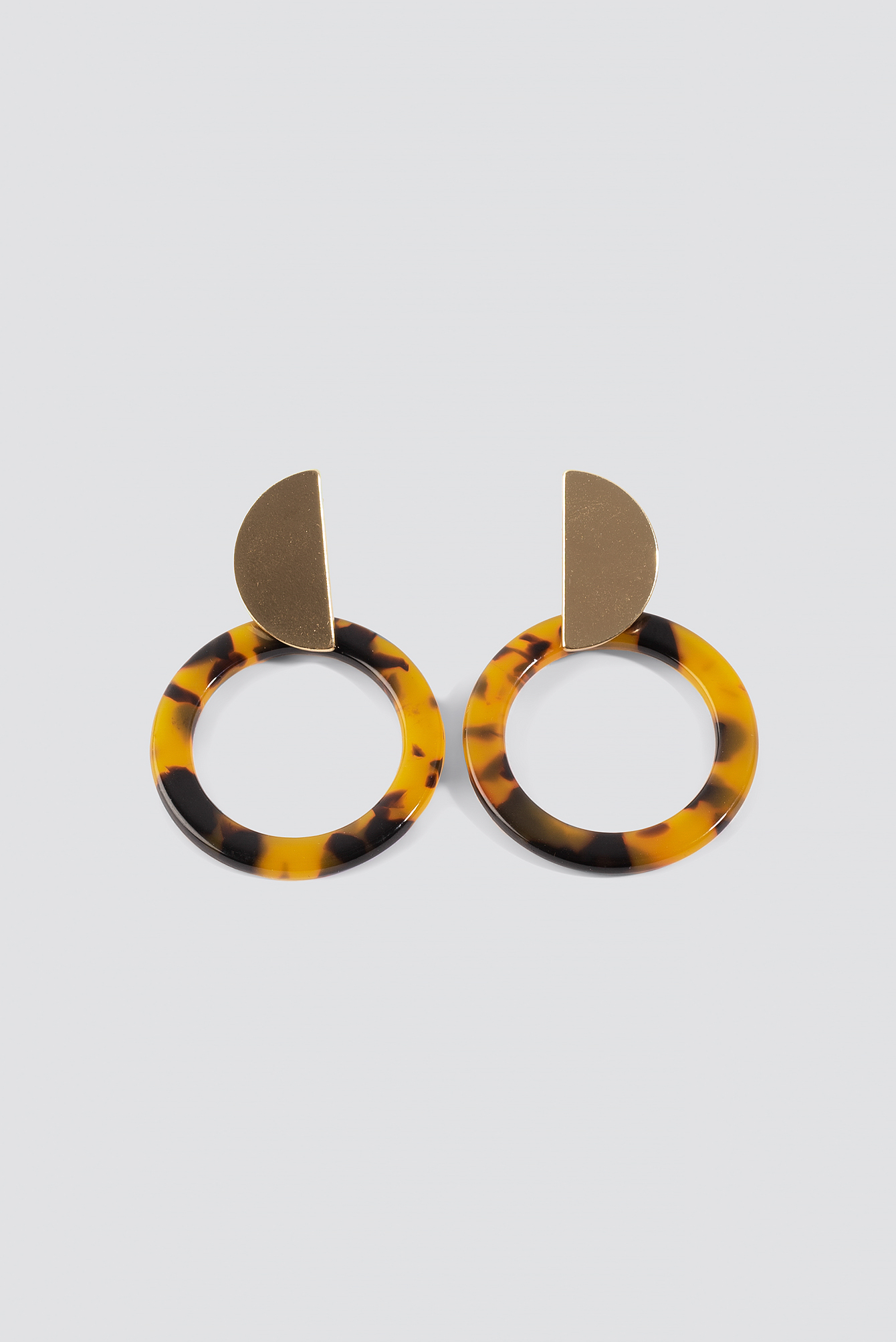Round Resin Earrings NA-KD.COM