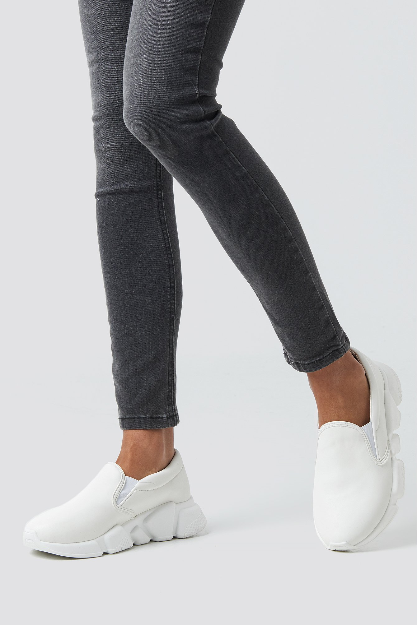 NA-KD Shoes Chunky Slip In Sneakers - White