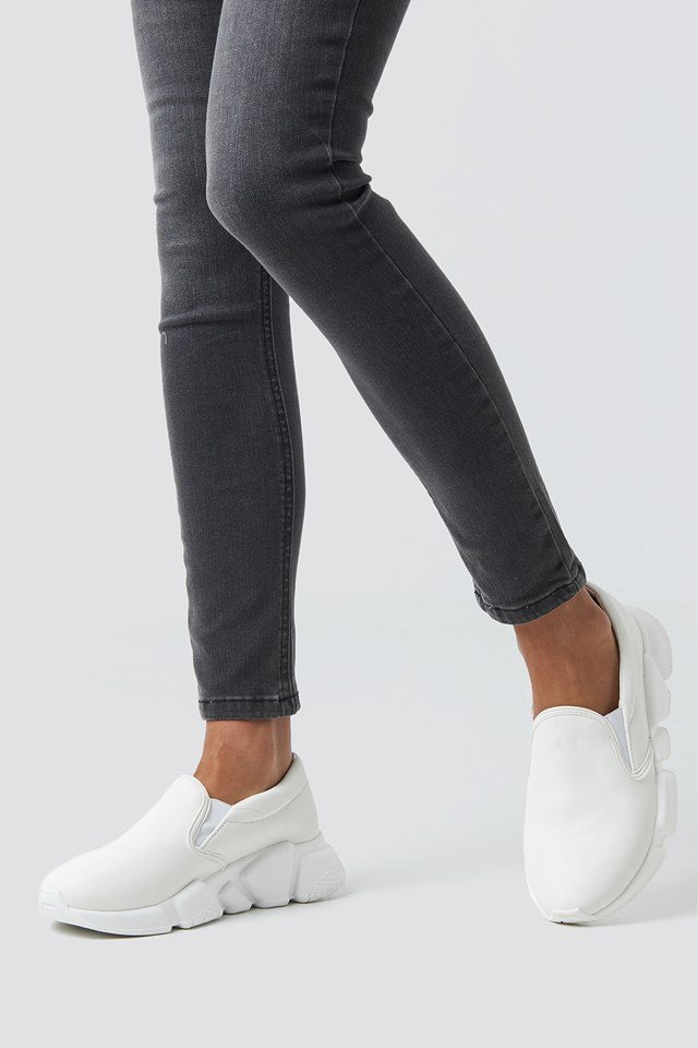 Chunky Slip In Sneakers White