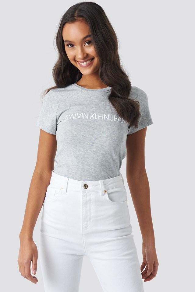 T-shirt Core Institutional Logo Light Grey Heather
