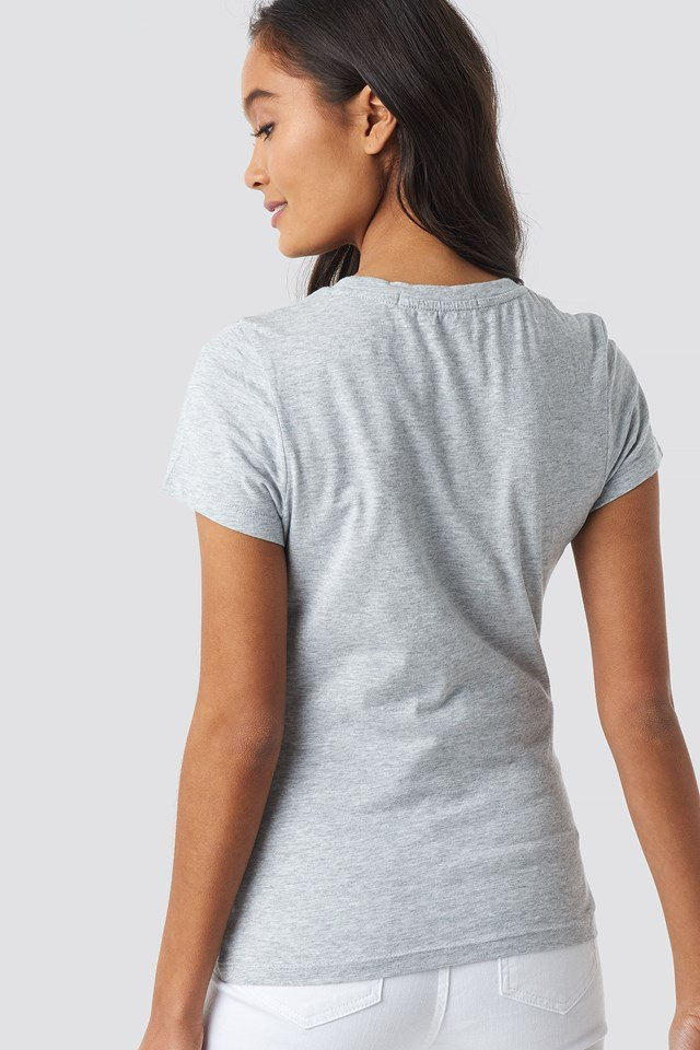 Core Institutional Logo Tee Light Grey Heather