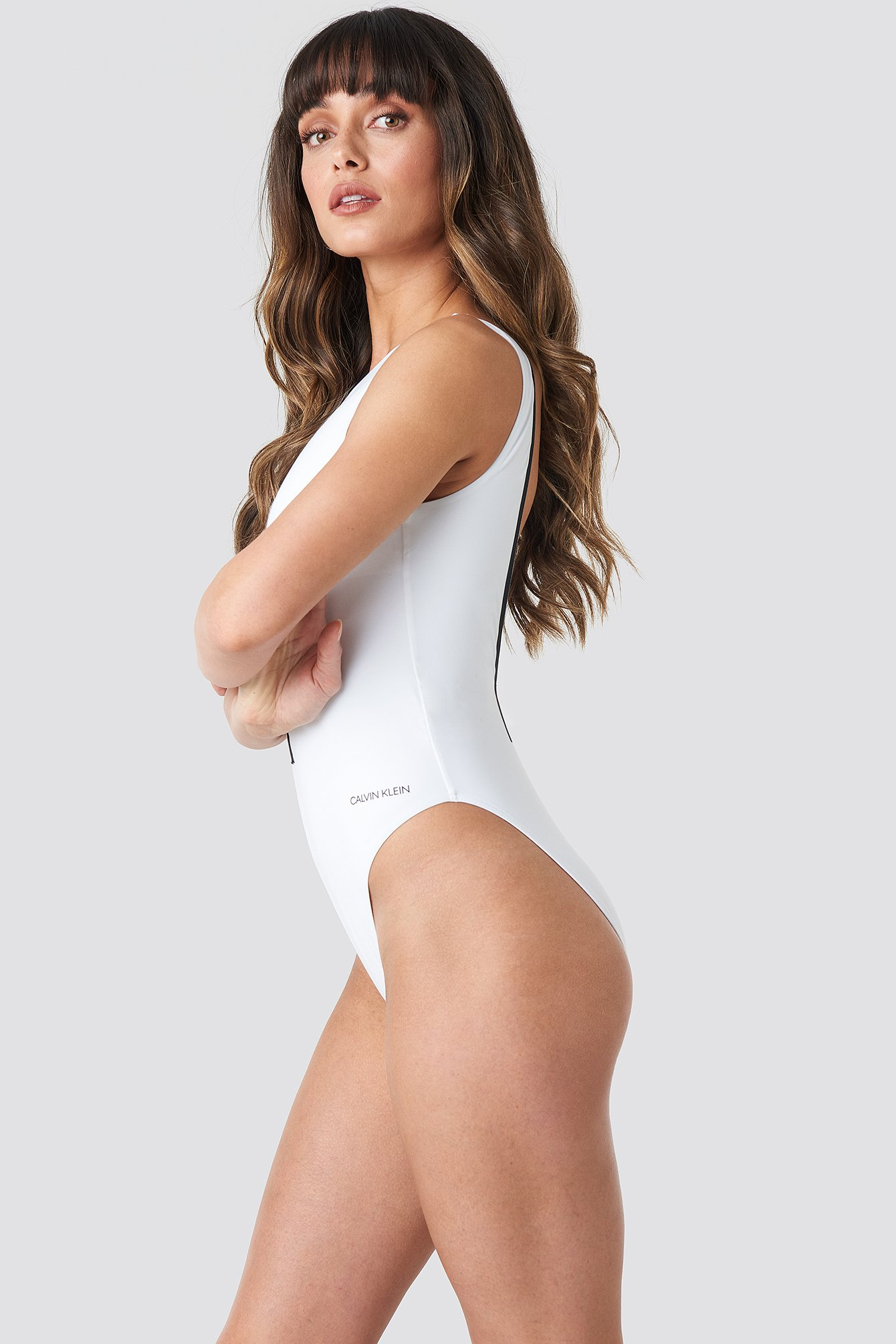Square Back One Piece Swimsuit NA-KD.COM