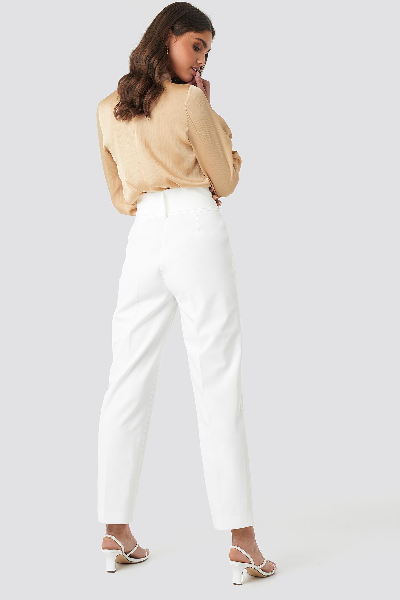 Asymmetric Belted Suit Pants NA-KD.COM
