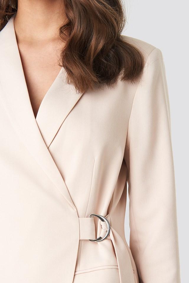 Asymmetric D-ring Belted Blazer NA-KD.COM
