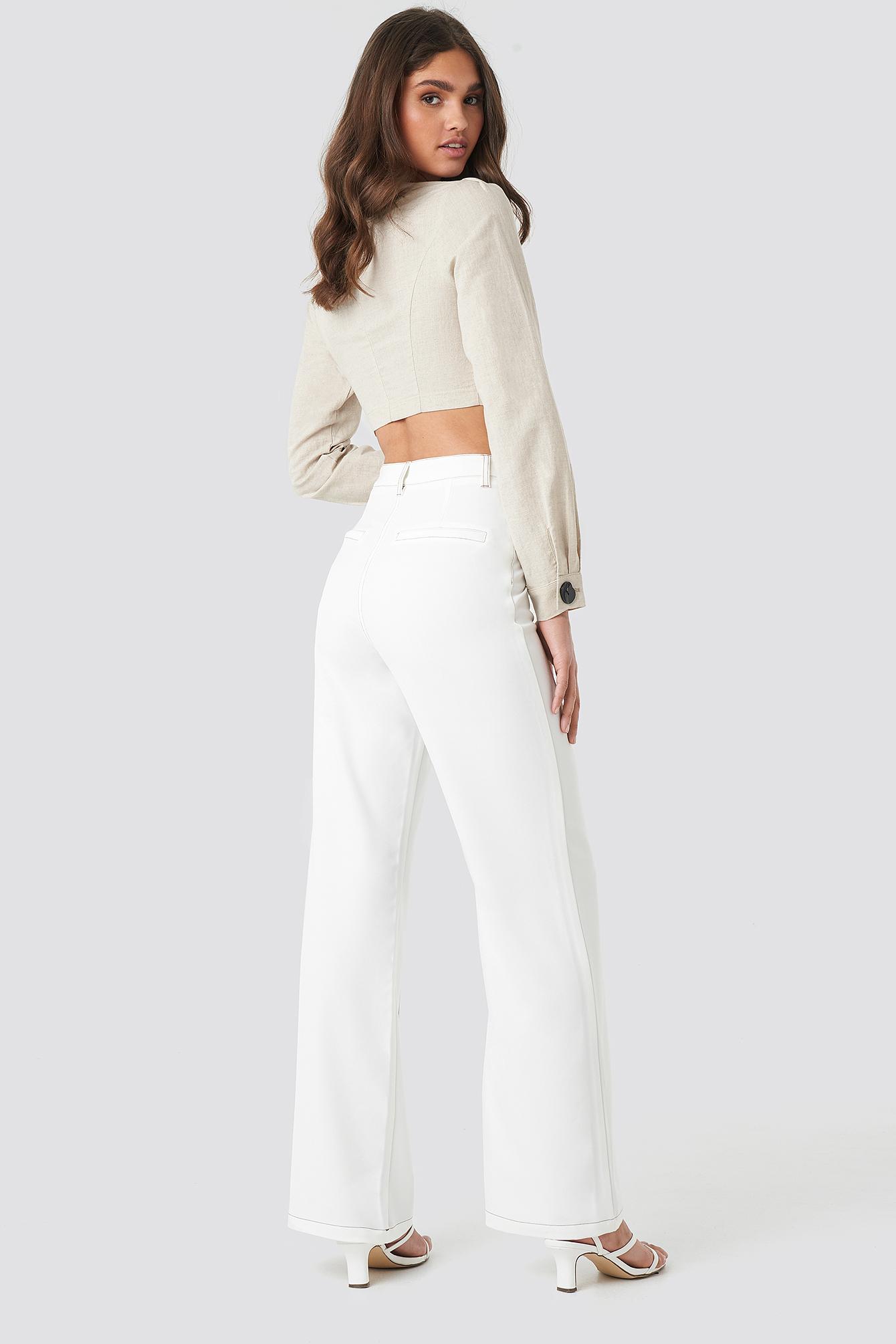 Contrast Seam Suit Pants NA-KD.COM