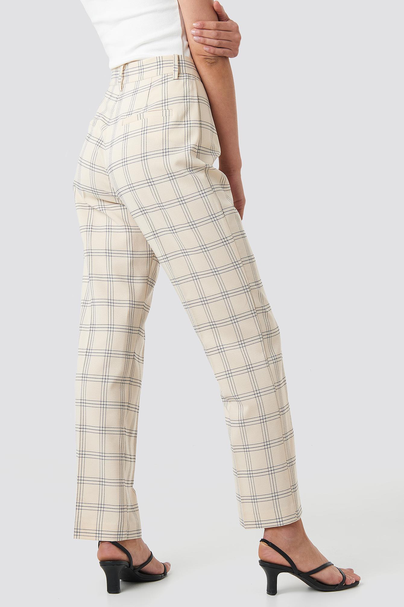 Light Checkered Suit Pants NA-KD.COM