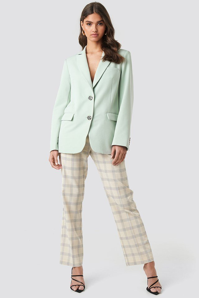 Oversized Fitted Blazer Dusty Green