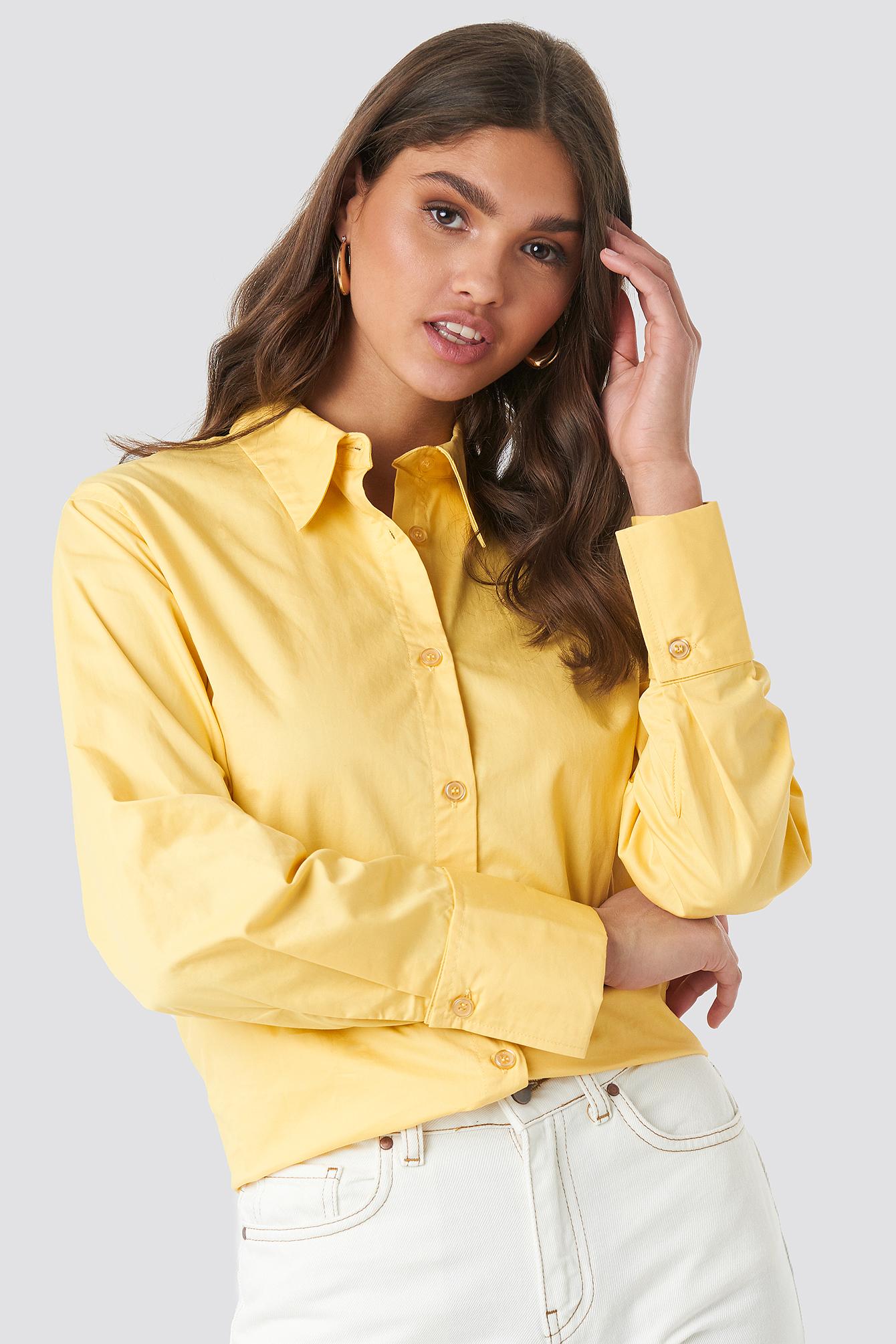 NA-KD Classic Oversized Shirt - Yellow | Bekleidung > Shirts > Sonstige Shirts | NA-KD Classic