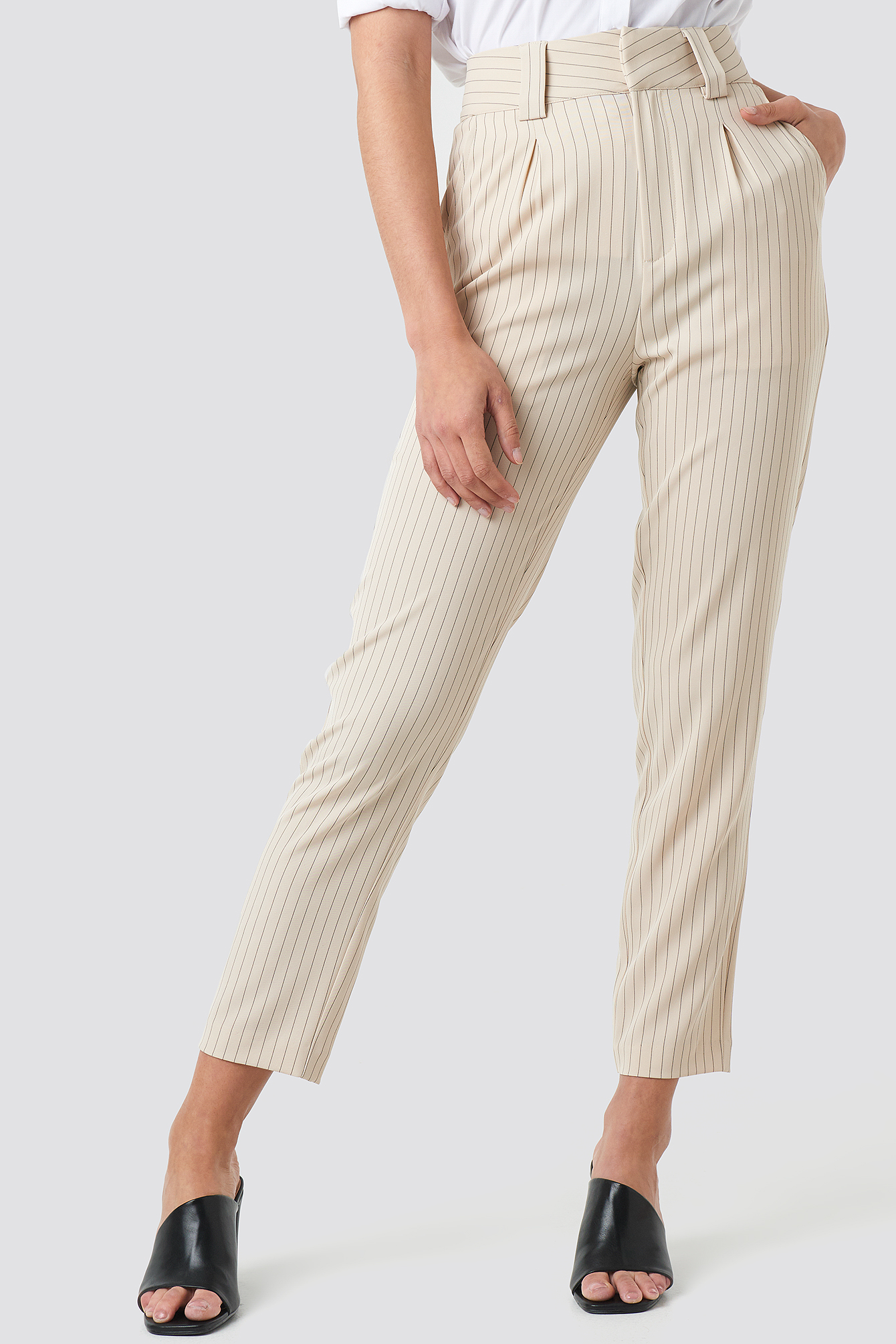 Pinstriped Cigarette Pants NA-KD.COM