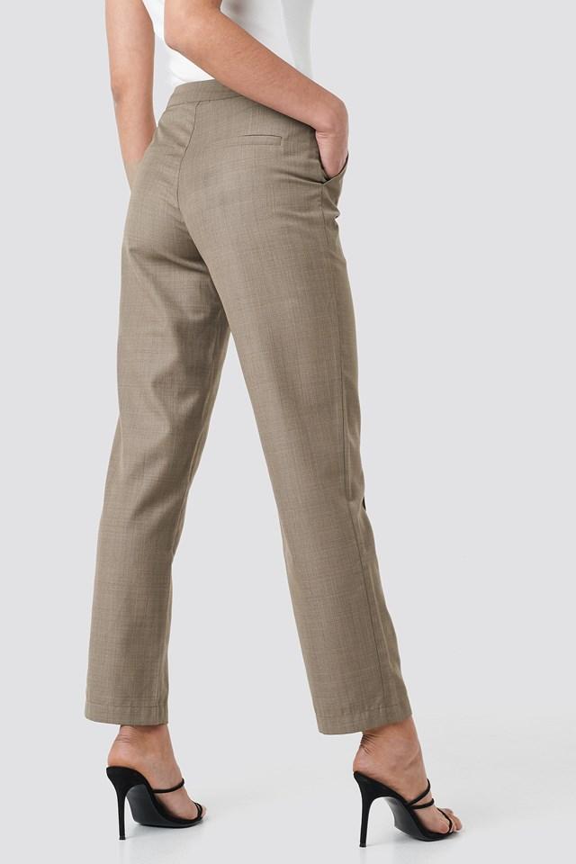 Pintuck Detail Suit Pants NA-KD.COM
