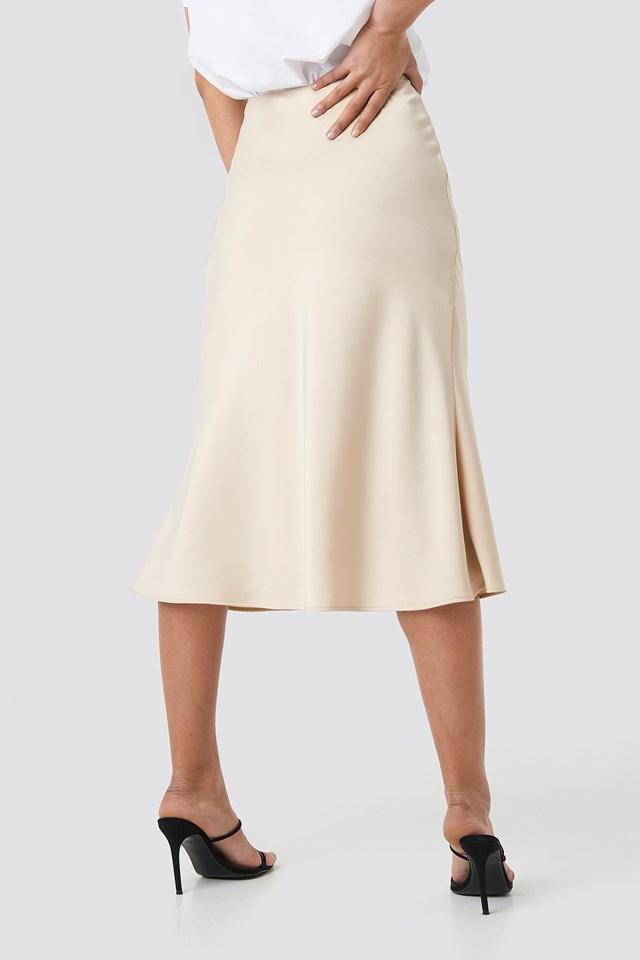 Satin Skirt Sand
