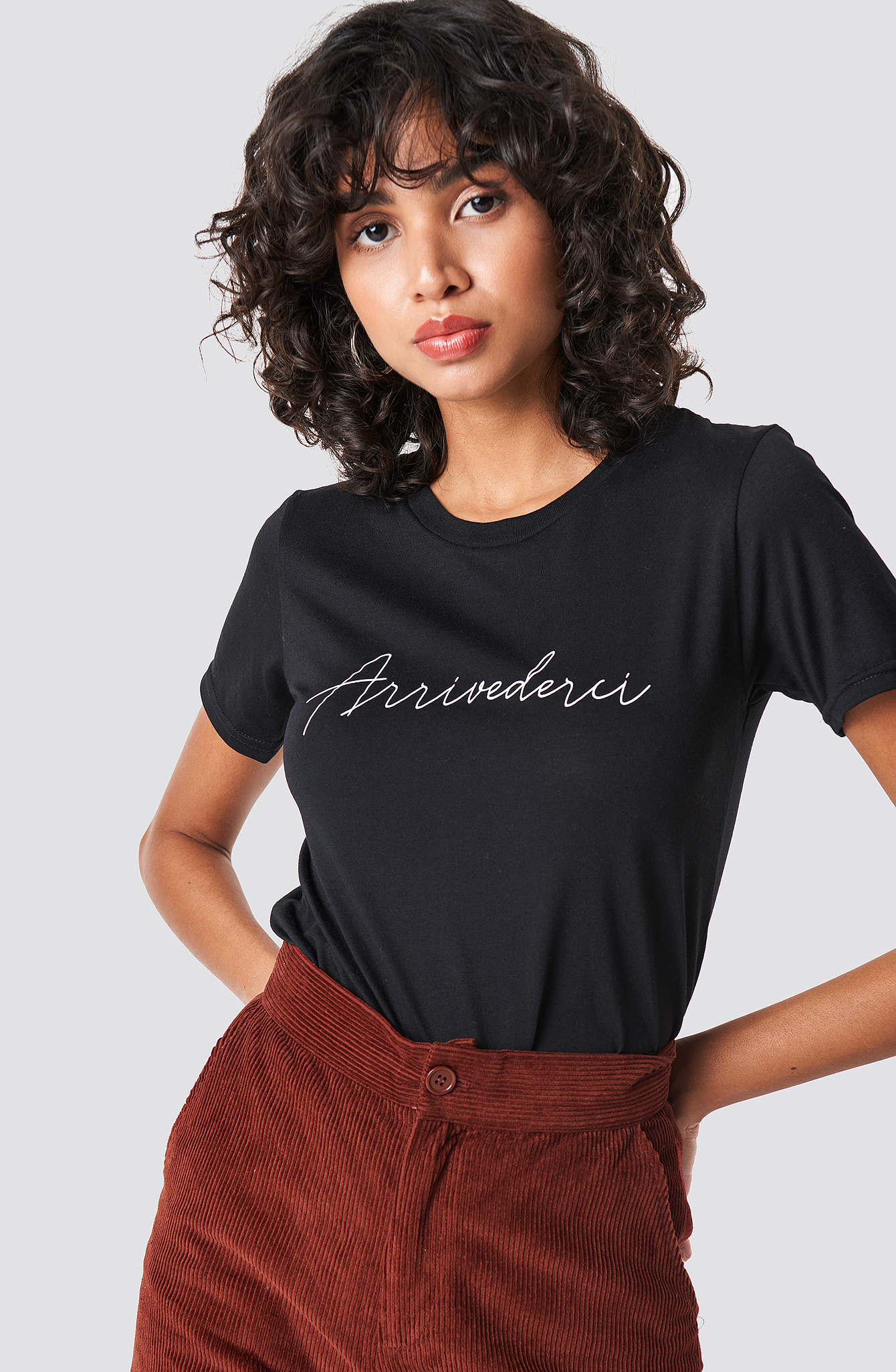 COLOURFUL REBEL Arrivederci Classic Tee - Black