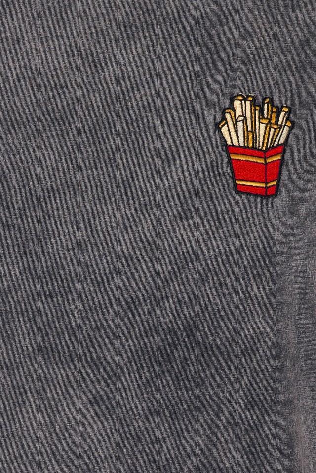 Fries Boyfriend T-Shirt Vintage Black