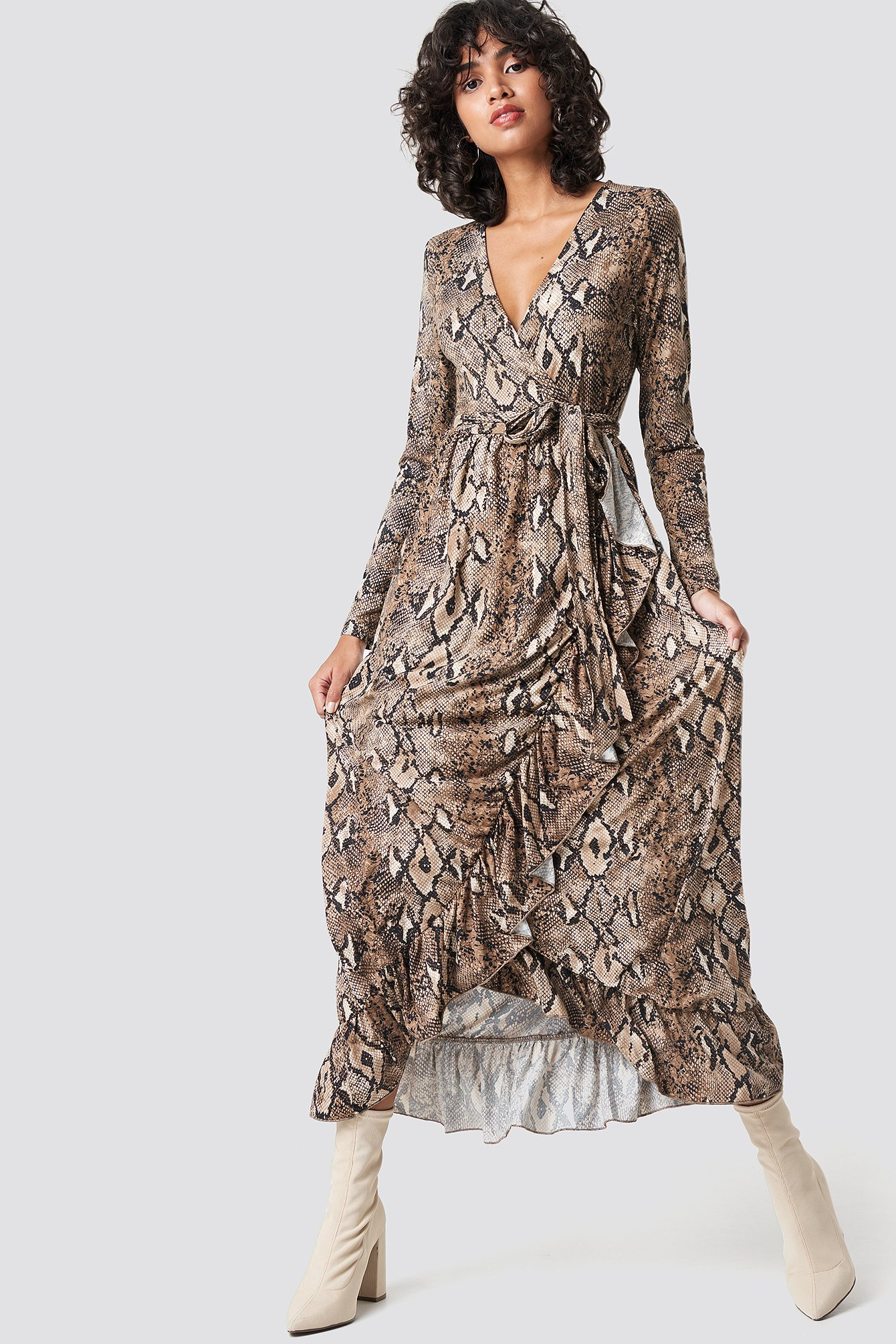 Gia Maxi Wrap Dress NA-KD.COM