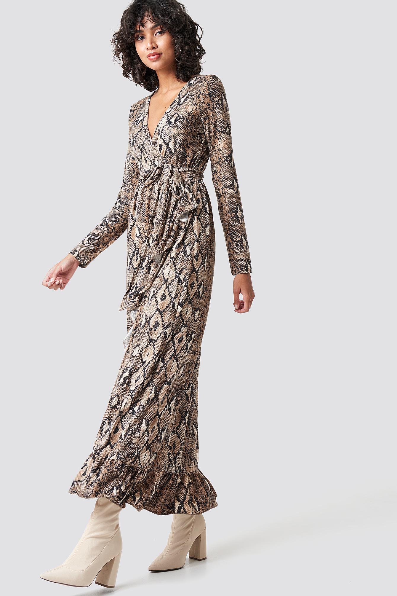 Gia Maxi Wrap Dress NA-KD.COM