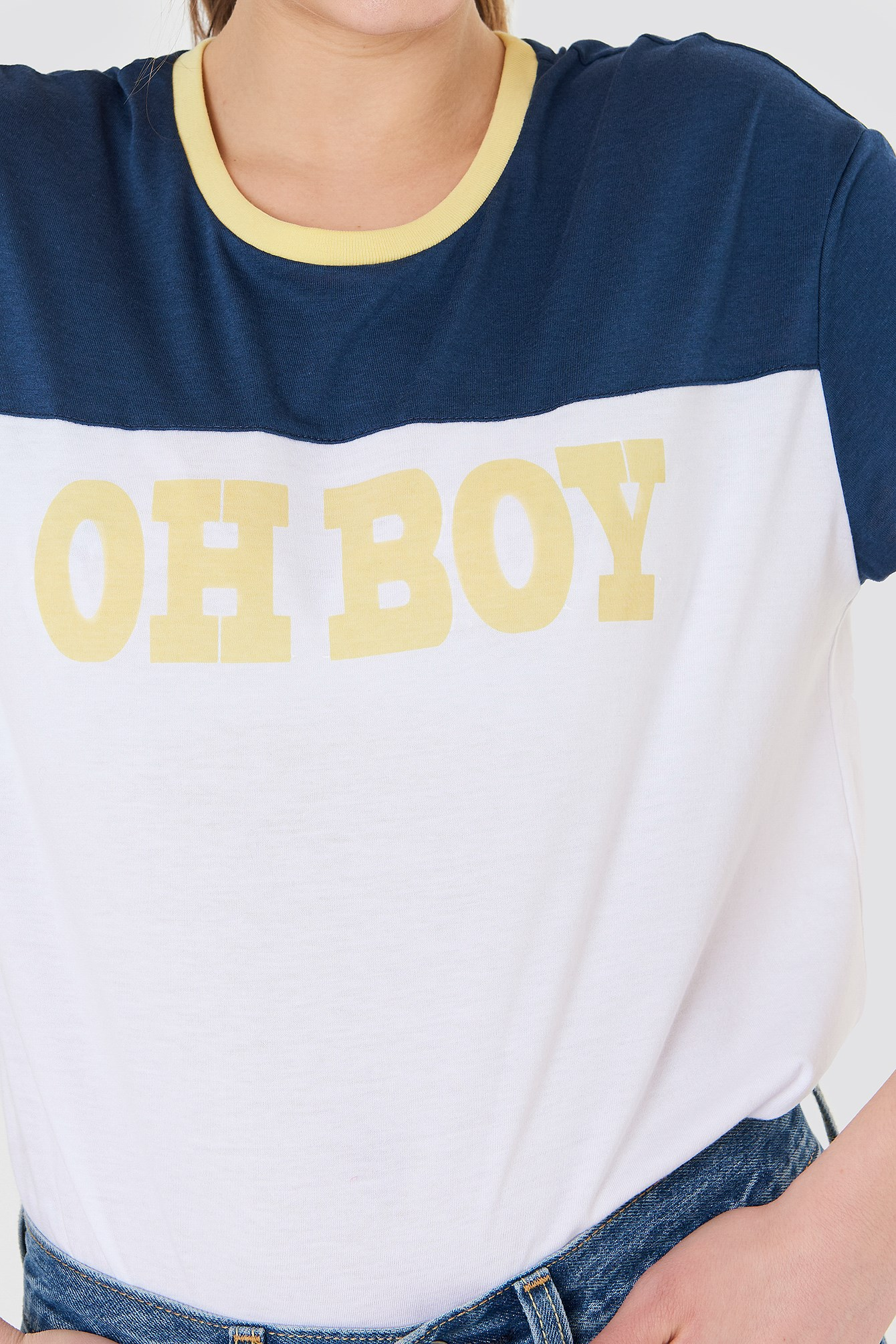 Oh Boy Loose Fit Tee NA-KD.COM