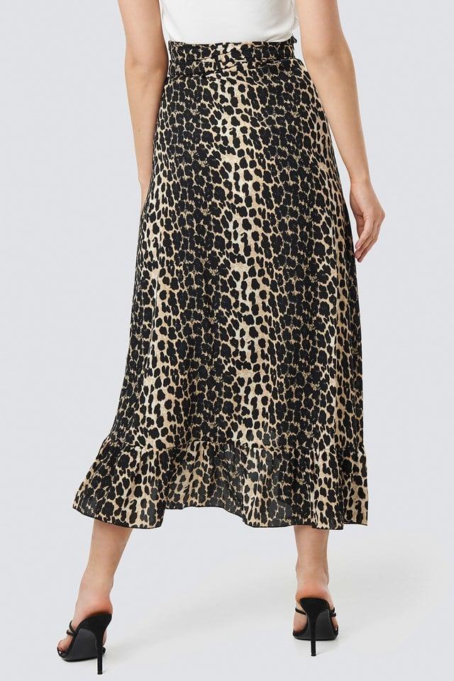 Siera Leopard Wrap Skirt NA-KD.COM